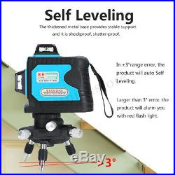 120X 12 Green Line Laser Level 3D 360° Rotary Self Leveling Cross Measuring Tool