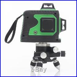12Lines 3D Green Laser Level Self-Leveling 360 Degree Laser Beam Line Waterproof