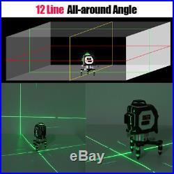 12 Line 360° 3D Laser Self Leveling Vertical & Horizontal Level Cross Green