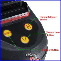12 Line 360° Rotary 3D Cross Laser Level Line Self-leveling Wall Stick + Tripod