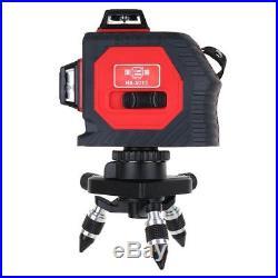 12 Line 360°Rotary 3D Self-leveling Horizontal & Vertical Cross Laser Level HOT
