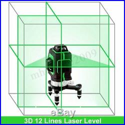 12 Line 360° Rotary Laser Level Green 3D Self Leveling Vertical Horizontal
