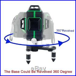 12 Line 360° Rotary Laser Level Green 3D Self Leveling Vertical Horizontal Cross