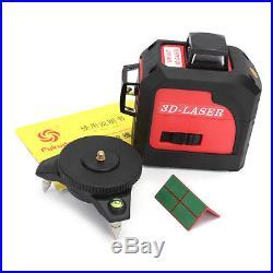 12 Line 3D 360 Degree Self Leveling Red Laser Level Vertical & Horizontal Cross
