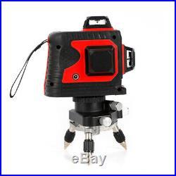 12 Line 3D 360° Laser Beam Line Laser Level Self-Leveling Green/ Red Waterproof