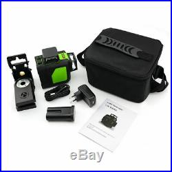12 Line Laser Level Green Self Leveling 3D 360° Rotary Cross Measure Tool