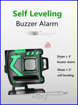 12 Lines 360 ° Horizontal&Vertical Cross 3D Green Laser Level Self Leveling MEGF