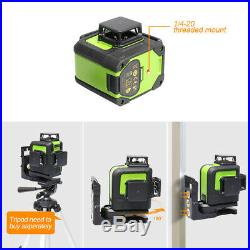 12lines Self Leveling Rotary Cross Line Laser Level with tripod and Receiver kit