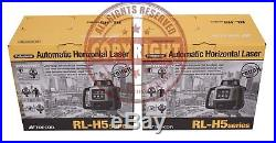 2 New Topcon Rl-h5a Self-leveling Rotary Grade Laser Level, Slope, Transit