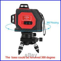 360° 12 Line 3D Laser Self Leveling Vertical & Horizontal Level Cross Red/Green