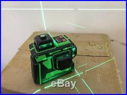 360° 3D Laser Level 12 Green Line Self Leveling Cross Horizontal Vertical Uk Sel