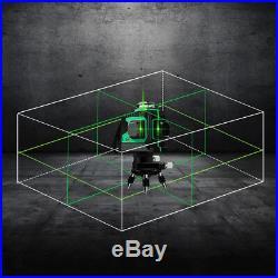 360° Laser Beam Line 12Lines 3D Green Red Laser Level Self-Leveling dustproof