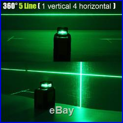 360° Rotary 5 Line Laser Self Leveling Vertical Horizontal Level Green Measure