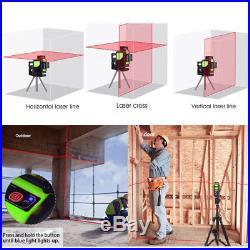 360° Rotatif 5 Ligne Niveau Laser Vertical Horizontal Measure Self Leveling kit