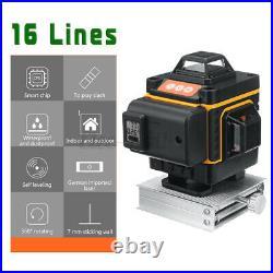 3D 12/16Line Green Light Laser Level Digital Self Leveling 360° Rotary Measure