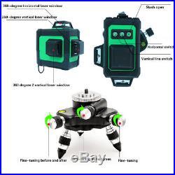 3D 12 Line 360° GREEN Laser Auto Self Leveling Vertical Horizontal Level Cross