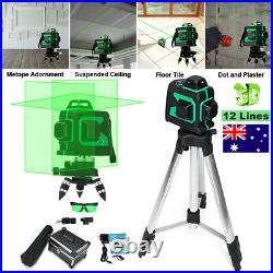 3D 12 Line Laser Level Kit Self-Leveling 360° Measuring Horizontal Vertical Tool