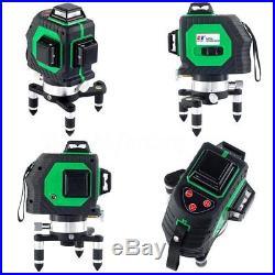 3D 12 Lines Laser Level Self Leveling 360 Degree Vertical Horizontal Cross Green