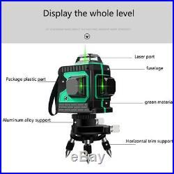 3D 12 Lines Laser Levels Self-Leveling 360° Horizontal & Vertical Cross Measurer
