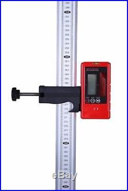 3D 1x360° Auto Self Leveling Cross Laser Level Multi Line Receiver Staff Tripod