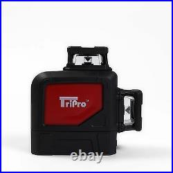 3D 2X360° Self Auto Leveling Rotary Cross Laser Level Tripod Receiver Detector