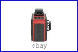 3D 3X 360° Self Auto 12 Lines Leveling Red Bright Beam Laser Level Tripod Case