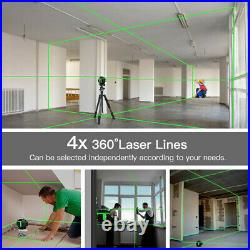 3D/4D 360° 12/16 Lines Green Laser Level Auto Self Leveling Rotary Cross Measure
