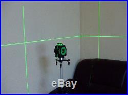 3D Build Laser Level Self Leveling Green 12 Line 360° Horizontal Vertical Cross