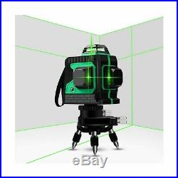 3D Green Beam Self-Leveling Laser Level 3x360 Cross Line Three-Plane Leveling