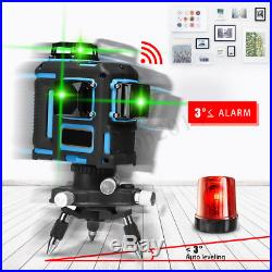 3D Green Laser Level 12 Line 360° Self Leveling Horizontal Vertical With Tripod