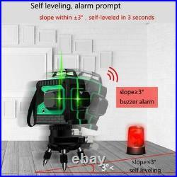 3D Green Laser Level Self Leveling 12 Lines 360 Degree Horizontal&Vertical Cross