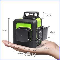 3D Green Laser Level Self Leveling 12 Lines 360 Degree Horizontal/Vertical/Cross