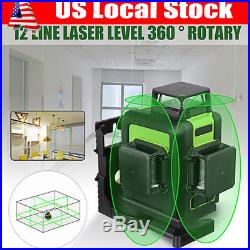 3D Green Laser Level Self Leveling 12 Lines 360 Degree Rotary Cross Measure Tool