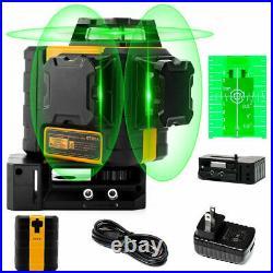 3D Green Line Laser, Rechargeable Self Leveling Laser Level Kaiweets VS Dewalt