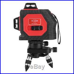 3D Laser Level 12 Line Self Leveling Outdoor 360° Rotary Cross Measure Tool