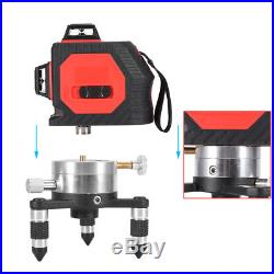 3D Red Laser Level Self Leveling 12 Lines 360 °Rotary Vertical Horizontal Cross