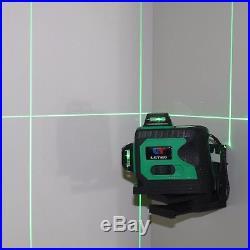 3d Self Leveling Green Laser Level 360 Degree 12 Lines Horizontal&Vertical Cross