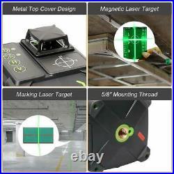 3x360 Green Beam Electronic Laser Level Self Leveling Three-Plane Leveling 200Ft