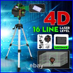4D 16 Line Green Laser Level Auto Self Leveling 360° Rotary Cross Measuring