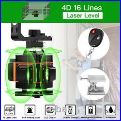 4D 16 Lines 360° Laser Level Self Leveling Green Horizontal Vertical Cross Tool