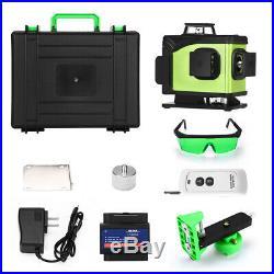 4D 16 Lines Green Beam Self-Leveling Laser Level 4x360°Laser Lines Buzzer Alarm