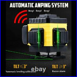 4D 360° 16 Lines Green Laser Level Auto Self Leveling Rotary Cross Measure