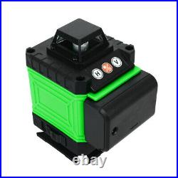 4D 360° 16 Lines Green Laser Level Auto Self Leveling Rotary Cross Measure Tool