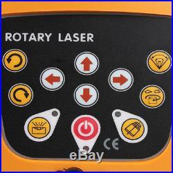 500M Electronic Self-Leveling 360° Rotary Rotating Red Laser Level Kit + Case