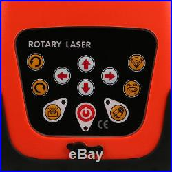 500m Self-Leveling Rotary Laser Level Kit Rotatationslaser Red Beam Automatic