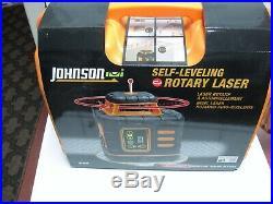 $600 Johnson Self Leveling Rotary Laser Level Kit set 40-6539 BRAND NEW in box