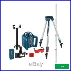 800 ft. Self Leveling Rotary Laser Level Complete Kit Bosch Hand Tool 5 Piece