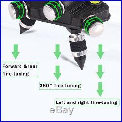 80X 3D Light 12 Line Laser Level Self Leveling Outdoor 360° Cross Measure Tool