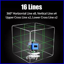 8/12/16 Line 3D Rotary Green Laser Level Self Leveling Horizontal Vertical Cross