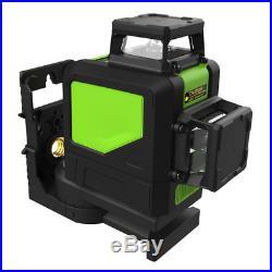 8 Line 360° Rotary Laser Cross Self Leveling Vertical Horizontal Level Green 6V